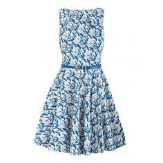 Closet Bird Print Flare Dress - Clothing