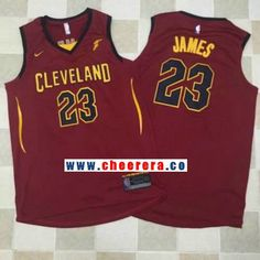 e977947ac88 Men s Cleveland Cavaliers LeBron James New Burgundy Red Nike Swingman  Stitched NBA Jersey