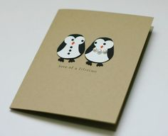 Card Buy Penguin Wedding Anniversary Bridal Shower Card by For Any Occasion