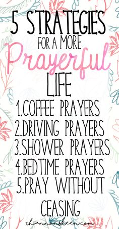 """""""Do I really have time to pray?"""" This can be the mindset we have in our busy lives, but here are 5 strategies to cover our days with prayers."""