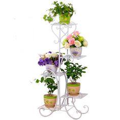 Support Plant Plants Standard Dekoru Salincagi Stand Balcony Balcony Flower Plant Shelf - All About Balcony House Plants Decor, Plant Decor, Cheap Plants, Balcony Flowers, Plant Shelves, Plantar, Plant Design, Flower Pots, Flower Ideas