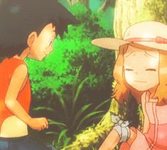 ash and serena as kids.aaww aaawwww aaaaaawwwwwww I love this part so much I fangirl every time :D
