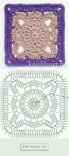 Transcendent Crochet a Solid Granny Square Ideas. Inconceivable Crochet a Solid Granny Square Ideas. Crochet Squares, Grannies Crochet, Granny Square Pattern Free, Crochet Stitches Free, Crochet Mandala Pattern, Crochet Motifs, Granny Square Crochet Pattern, Crochet Blocks, Crochet Diagram