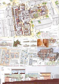 Hospital Architecture, Study Architecture, Architecture Drawings, Architecture Portfolio, Presentation Board Design, Architecture Presentation Board, Public Space Design, Landscape And Urbanism, School Design