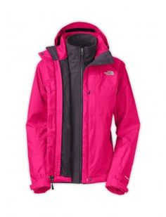 Women's Hot Pink North Face Condor Triclimate Jackets $129