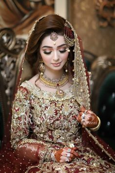 Bride like a doll Asian Bridal Dresses, Latest Bridal Dresses, Bridal Mehndi Dresses, Pakistani Wedding Outfits, Pakistani Wedding Dresses, Bridal Outfits, Bridal Makeup Looks, Bridal Looks, Bridal Style