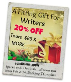 last day to get 20% on a book tour