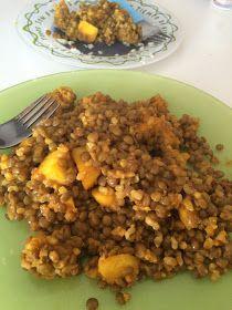 Mis Recetas Anticáncer: Lentejas con arroz y manzana al curry
