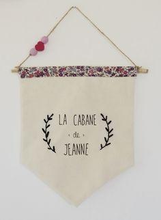 """Fanion/bannière """"la cabane de..."""" personnalisable : Décoration pour enfants par la-toute-petite"""