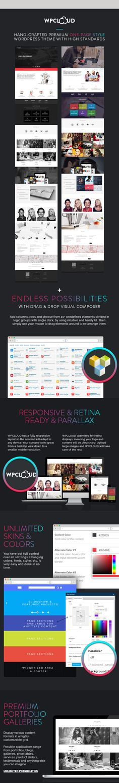 WP Theme Of the Day #280 – WPCLOUD – Creative OnePage Theme