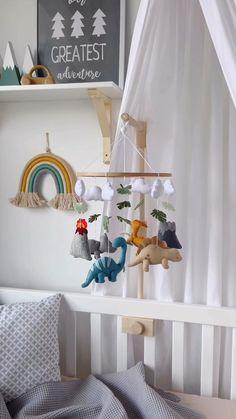 Baby Room Design, Girl Bedroom Designs, Baby Room Decor, Baby Boy Rooms, Baby Boy Nurseries, Baby Cribs, Baby Mädchen Mobile, Dinosaur Nursery, Dinosaur Baby Nurseries