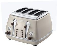 Icona CTO-V4003BG 4-Slice Toaster - Cream