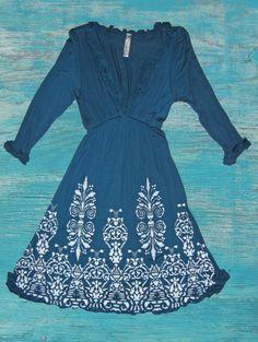 Ruffle Western Dress