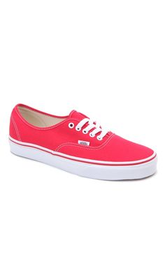 89ea4a93a2 Authentic Red Shoes Vans Authentic Red