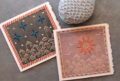 Tutorial: embroidery greeting cards #free #pattern #embroidery #diy #crafts