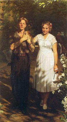 """Китаев Ахмед «Любовь моей юности (Моя невеста)» 1953 Kitaev Ahmed """"Love of my youth (My fiancee),"""""""