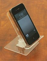 Tilting Cell Phone Display Stand - Clear Acrylic