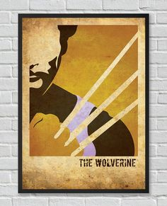 The Wolverine XMen inspired vintage movie poster by FlickGeek, $11.00