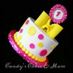 Pink and yellow, smash cake