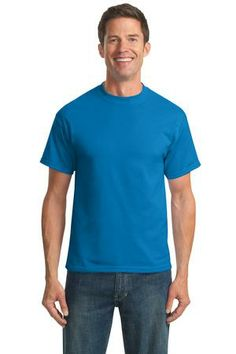 Port & Company -50/50 Cotton/Poly T-shirt. A reliable choice for comfort, softness and durability. This must-have style is shrink and wrinkle resistant for good looks that last. - Arizona Cap Company - (480) 661-0540 Custom Printed & Embroidered. Visit our website for the colors available and the price.