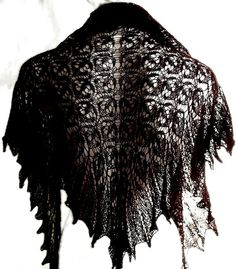 Aubergine deep purple lacy triangle exclusive by MyLaceSpace, $137.00