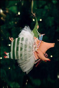 oyful Flying Pig #christmas #ornament