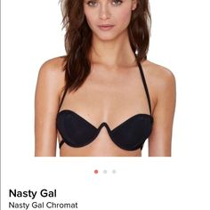 Chromat Bikini Top SUPER SEXY BIKINI TOP! Sold out on Nasty Gal this summer! Brand new with tags, NWT, bought but never got a chance to wear. Sexy match to any bikini bottoms! Paid Retail $115 + shipping + tax. Nasty Gal Swim Bikinis