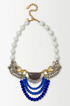 Cobalt Trio Necklace #anthropologie
