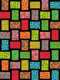 Bright Ideas Pre-Cut Quilt Blocks Kit 30x40