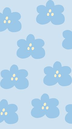 Blue Floral Aesthetic Iphone Wallpaper