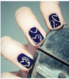 Here you will find some cool and easy Nail designs for short nails !Short nails are equally adorable , same as long nails. Short nails can be designed differently the way your whims dictate. Pretty Nail Designs, Simple Nail Art Designs, Short Nail Designs, Easy Nails, Simple Nails, Love Nails, Pretty Nails, Fun Nails, Design Ongles Courts