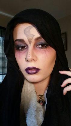 Fortune teller/gypsy Makeup by Hannah Naughton.