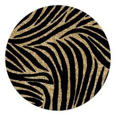 Shop Gold black Faux Glitter Zebra Print Sweet Sixteen Invitation created by peacefuldreams. Pottery Painting Designs, Rock Painting Designs, Sweet Sixteen Invitations, Black Girl Art, Ceramic Teapots, Plate Design, Carpet Design, Black Paper, Bottle Art
