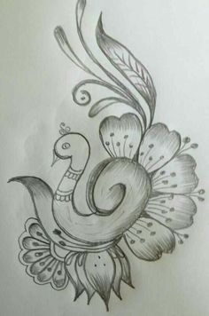 l love drawing this is amazing Art Drawings Sketches Simple, Pencil Drawings Of Flowers, Pencil Art Drawings, Bird Drawings, Love Drawings, Drawing Drawing, Mehndi Designs Book, Mehndi Designs For Fingers, Borboleta Crochet