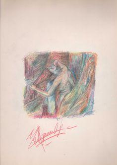 Mujer secándose el pelo, Edgar Degas (Mario Ramos, 2002).