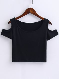 Buy Black SheIn Crop top for woman at best price. Compare Tops prices from online stores like SheIn - Wossel United States Outfits For Teens, Cool Outfits, Casual Outfits, Summer Outfits, Girls Fashion Clothes, Girl Fashion, Fashion Dresses, Crop Top Outfits, Cute Crop Tops