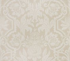 Perfect tan subtle floral fabric in Jardinage Parchment for The New York Botanical Garden Collection by Vervain Neutral Tones, Floral Fabric, Traditional Design, Botanical Gardens, Great Rooms, Amy, Fabrics, Tapestry, York