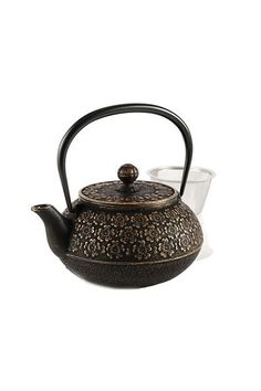 Inspire her to do a teatox (it's way less miserable than a juice cleanse) with this fancy number.  Cherry Blossoms Cast Iron Teapot, $129.95; teavana.com.     - MarieClaire.com