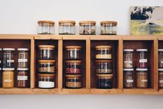 Upcycling Design: Kräuterdosen aus Recycling Glas von Side by Side!  #upcycling #recycling #glas #kräuter #garten #kueche #vorratsglas #design Upcycling Design, Recycled Bottles, Kraut, Recycling, Liquor Cabinet, Upcycle, Storage, House, Furniture