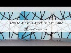 Modern Art Polymer Clay Cane