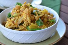 This Slow Cooker Curry Chicken involves the use of chickpeas. It makes for one hearty meal!