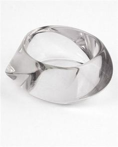 Hyde Society Clear Lucite Bangle