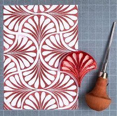 printmaking ideas simple Playing catch up for - Day 30 . Diy Stamps, Handmade Stamps, Motifs Textiles, Stamp Carving, Fabric Stamping, Linoprint, Create Photo, Fabric Painting, Encaustic Painting
