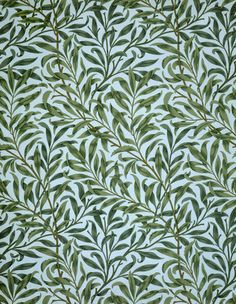 'Willow Bough' c.1887, is William Morris' most well-known and popular pattern. Click through to find links to suppliers. #William_Morris #Morris_and_Co #wallpaper