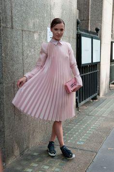 Street style at London Fashion Week. Photo: Imaxtree