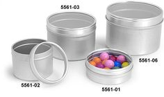 Metal Tins, Metal Tins with Clear View Tops
