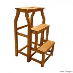 XX-PR Interiors Tours Ladderstoel voor bibliotheek in weathered oak-eik