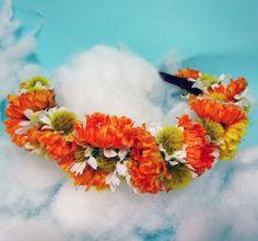Autumn Daisy flower crown