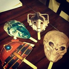Doctor Who Party Masks