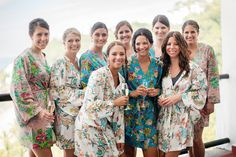 love the silk robes for bridesmaids